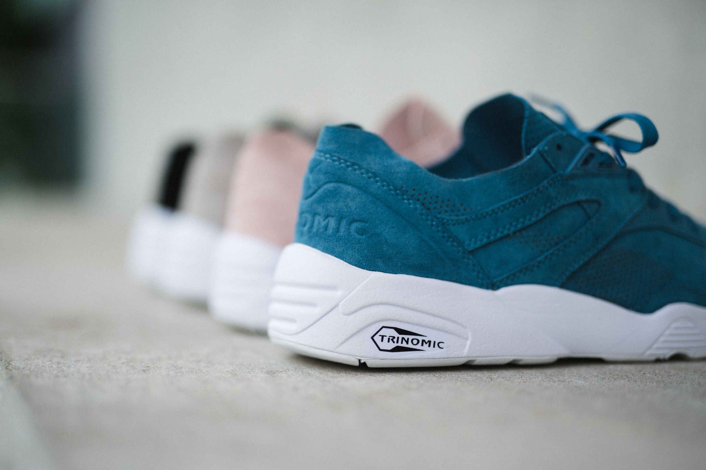puma trinomic noir rose